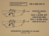 M16  /  M16A1 Operator's Manual  - USGI