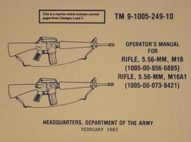 M16 M16A1 Operator's Manual