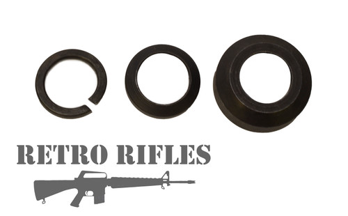Left to right Lock Washer, Crush Washer, Grenade Ring