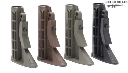 Left to Right Foliage Green, Brown, OD Green, Black