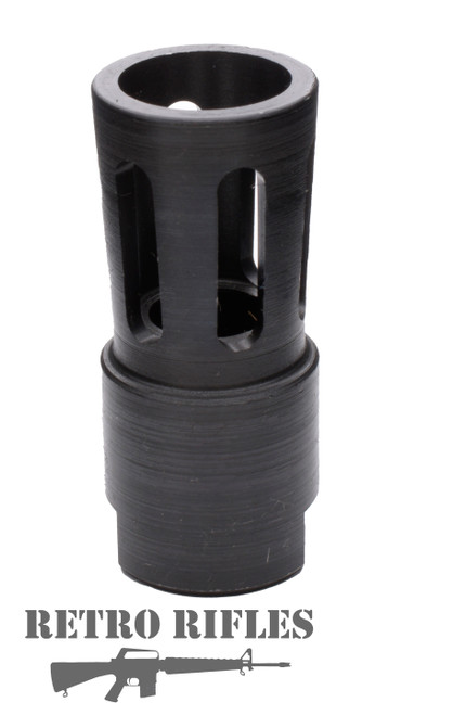 Retro Flared Flash Hider  -  308  /  300 blackout / 5/8x24