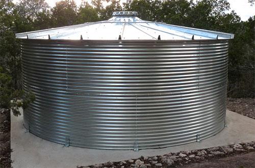 13,000 Gallon Corgal Cistern Water Tank