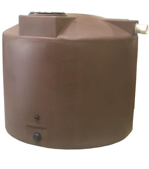 1000 Gallon Rain Harvesting Tank - PM1000RH - Dark Brown