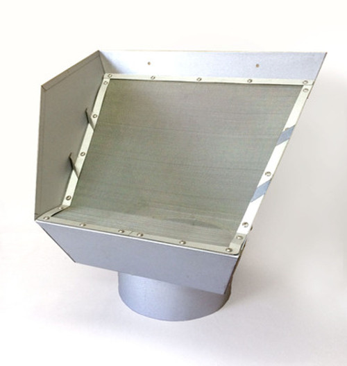 "6"" Commercial Rain Head Leaf Eater Zinc 