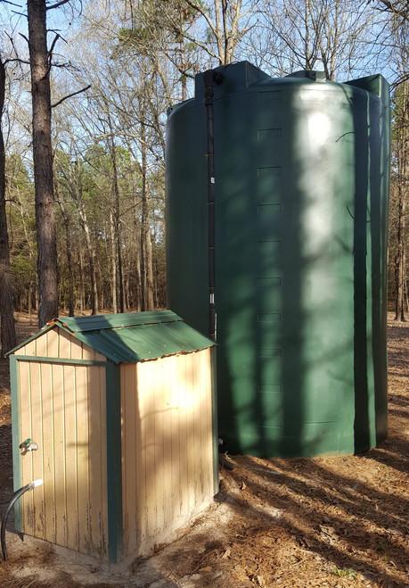 5000 Gallon Well Water Storage Tank (Tall) dark green