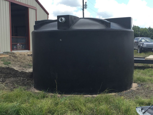 5000 Gallon Rain Harvesting Tank (PM5000RH-Short) installed