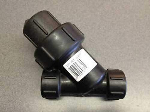 "1"" Polypropylene Y Strainer - 20 to 80 Mesh"