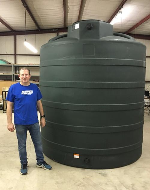 3000 Gallon Poly Water Storage Tank