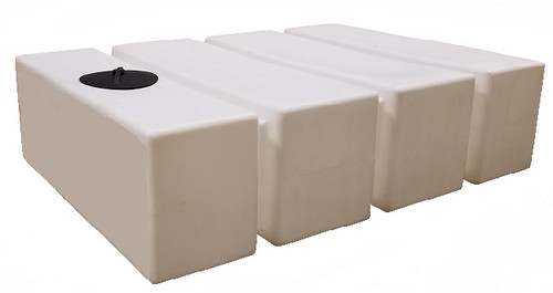 500 Gallon Rectangle Water Storage Tank (PM500RT) - Shown here in Natural Color