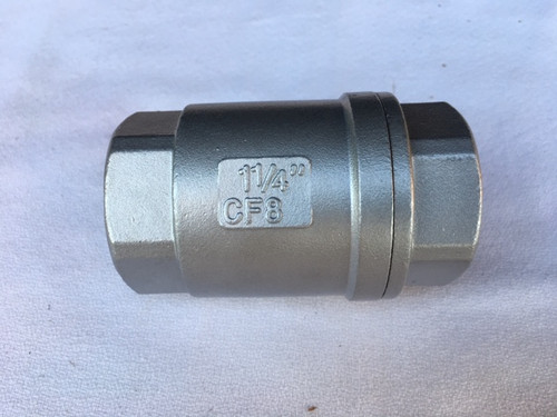 "1 1/4"" Stainless Steel Check Valve"