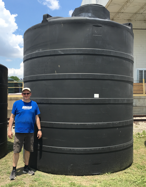 12000 Gallon Water Storage Tank - Black (32076)