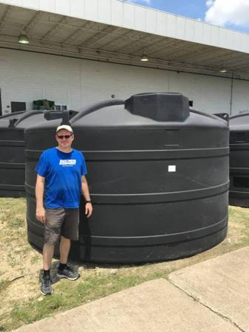 "5000 Gallon 1.9 Black Liquid Storage Tank - New ""Blemished"" (52390-Clearance)"