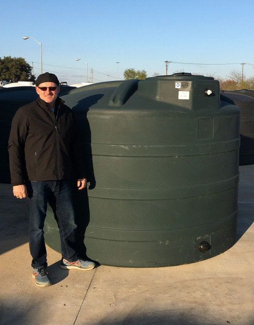 2000 Gallon Rain Harvesting Tank Green (32555)