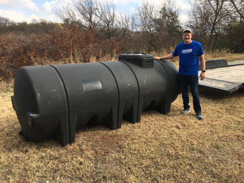 1025 Gallon Black Horizontal Leg Tank 1.5 SG (32042-Clearance)