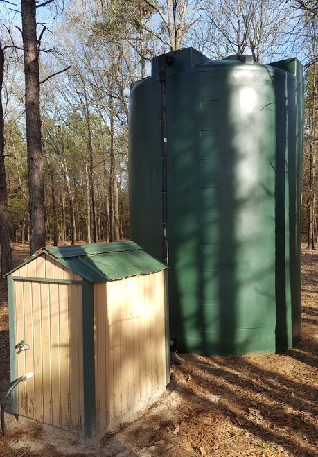 5000 Gallon Well Water Storage Tank (Tall) dark green