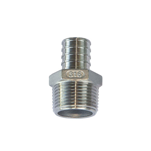PEX Male Adapter - 316 Stainless Steel