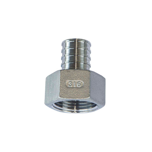 PEX Female Adapter - 316 Stainless Steel (Package of 10) (PEX-F)