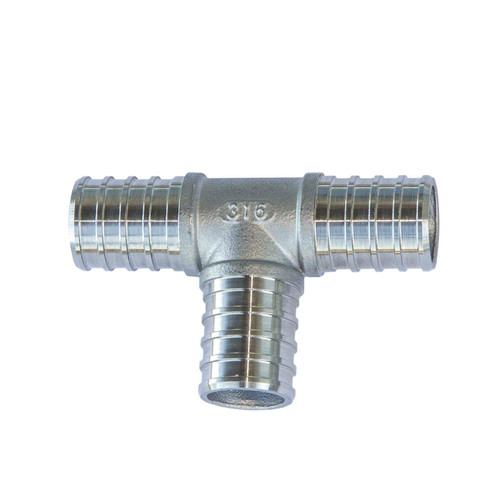 PEX Tee Connector - 316 Stainless Steel (Package of 10) (PEX-TEE)