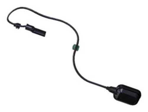 Detects the level of water in a tank, preventing emptying of the latter and seizing of the pump avoiding the dry running, due to too low a level of water.  It is possible to connect this float (and a level sensor) without compromising the water tightness of the pump thanks to the NFC (Near Field Communication) pocket.