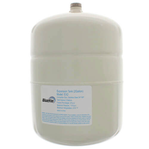 2 GALLON EXPANSION TANK - 150 PSI AND 0.75 NPT CONNECTION (EX2) Bluefin
