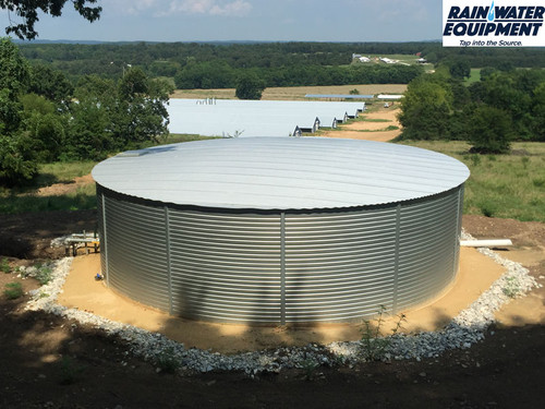 Pioneer XL23 Water Storage Tank - 30,000 Gallons installed at a chicken farm