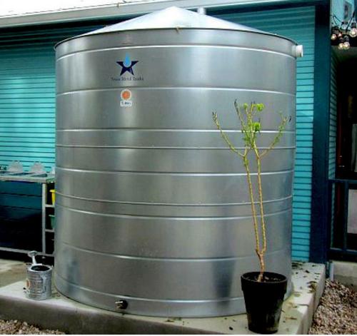 Large - Round Galvanized Steel Water Storage Tank