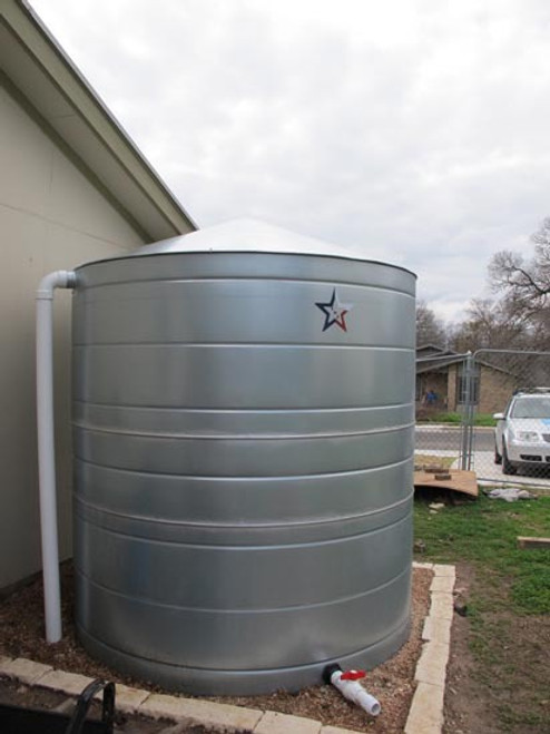 2500 Gallon Galvanized Steel Rainwater Storage Tank