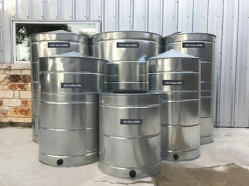 Small - Round Galvanized Steel Water Storage Tank