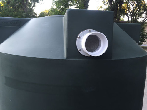 """4"""" Overflow for Rainwater Harvesting Tank"""