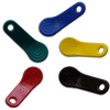 The Maxim iButton fobs provide a means of hanging or mounting all types of F5 size iButton devices, including Thermochron and Hygrochron loggers, as well as making them easy to identify.