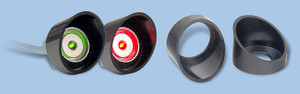 This shield is ideal for protecting screw mount read heads used in outdoor environments.
