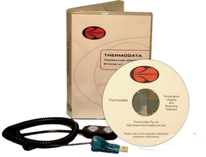 Thermodata Viewer Kit is our legacy product which uses a simple interface and software which assists you in temperature monitoring. CD's are no longer issued. A downloadable link is provided instead of CD.