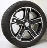 "Black and Machine 22"" Five Spoke Wheels with Bridgestone Tires for Chevy Silverado, Tahoe, Suburban - New Set of 4"