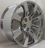 """Chrome 20"""" Eight Spoke Wheels for Chevy Silverado, Tahoe, Suburban - New Set of 4"""
