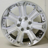 "Hyper Silver 22"" With Chrome Inserts Wheels for Chevy Silverado, Tahoe, Suburban - New Set of 4"
