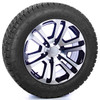 "Black and Machine 20"" Split Spoke Wheels with Nitto A/T Tires for Chevy Silverado, Tahoe, Suburban - New Set of 4"