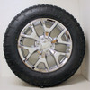 """Chrome 20"""" Honeycomb Wheels with Nitto A/T Tires for Chevy Silverado, Tahoe, Suburban - New Set of 4"""
