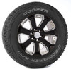"""Gloss Black 20"""" With Chrome Inserts Wheels with Cooper Tires for Chevy Silverado, Tahoe, Suburban - New Set of 4"""