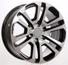 "Black and Machine 22"" Split Spoke Wheels for Chevy Silverado, Tahoe, Suburban - New Set of 4"