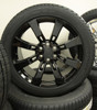 "Gloss Black 22"" Eight Spoke Wheels with Bridgestone Tires for GMC Sierra, Yukon, Denali - New Set of 4"