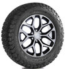 "Black and Machine 20"" Snowflake Wheels with BFG KO2 A/T Tires for GMC Sierra, Yukon, Denali - New Set of 4"
