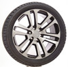 "Black and Machine 22"" Split Spoke Wheels with Bridgestone Tires for GMC Sierra, Yukon, Denali - New Set of 4"
