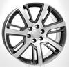 "Gunmetal and Machine 22"" Quarter Split Spoke Wheels for Chevy Silverado, Tahoe, Suburban"