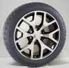 "Black and Machine 22"" Honeycomb Wheels with Nitto Terra Grappler Tires for Chevy Silverado, Tahoe, Suburban"