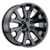 """Gloss Black 24"""" Open Spoke Wheels for GMC and Chevy 1500 Trucks and SUVs"""