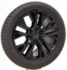 "Gloss Black 22"" Next Gen Sierra Wheels with Bridgestone Tires for Chevy Silverado, Tahoe, Suburban - New Set of 4"