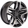 """Black and Machine 18"""" Trail Boss Style Wheels for Chevy and GMC Trucks and SUVs"""