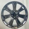 "Hyper Silver 22"" Seven Spoke Wheels for Chevy Silverado, Tahoe, Suburban"