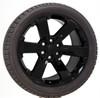 "Gloss Black 22"" Rally Style Six Spoke Wheels with Bridgestone Tires for GMC Sierra, Yukon, Denali - New Set of 4"