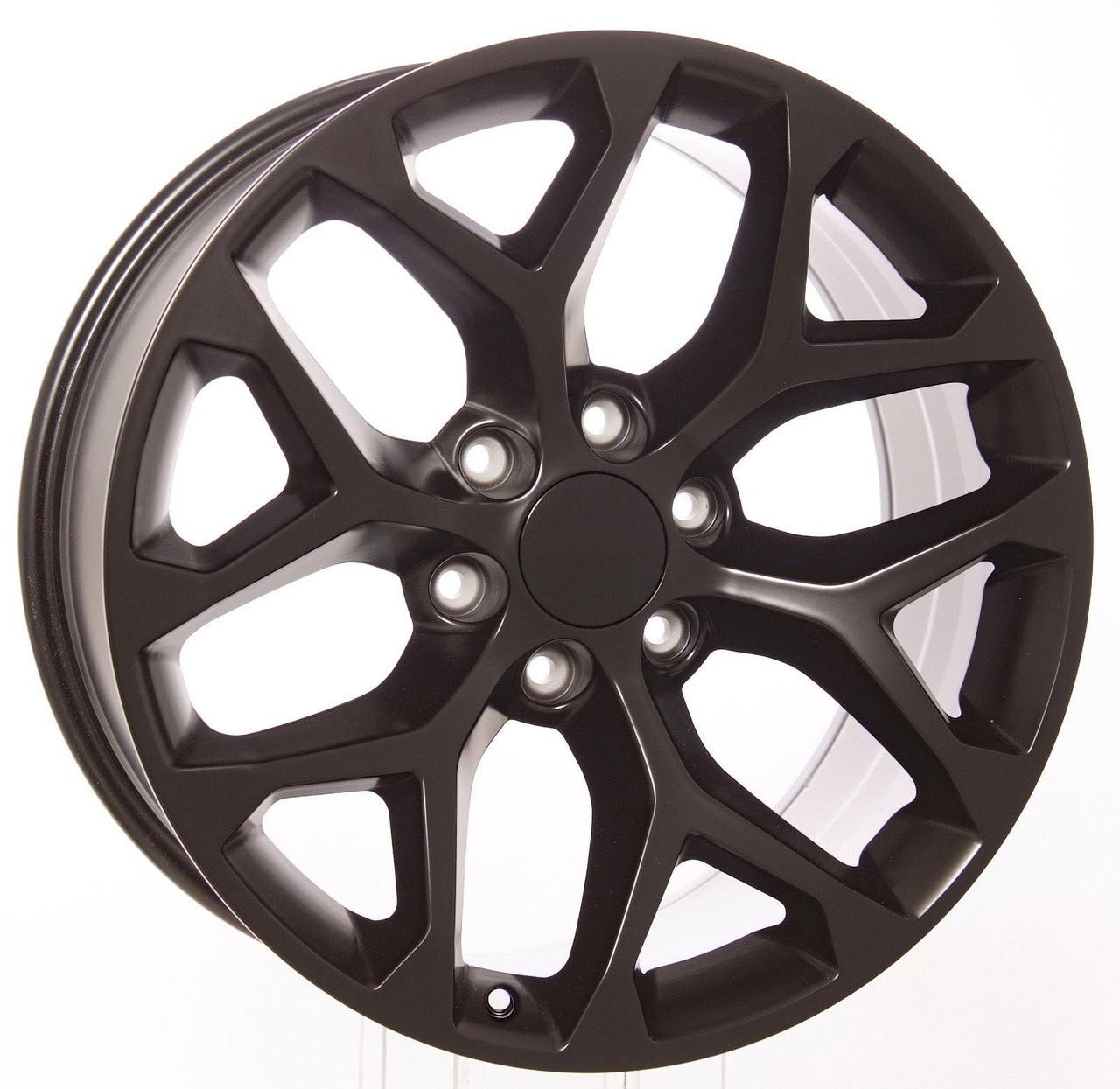 "20"" black satin snowflake for Chevy Trucks and SUVs"